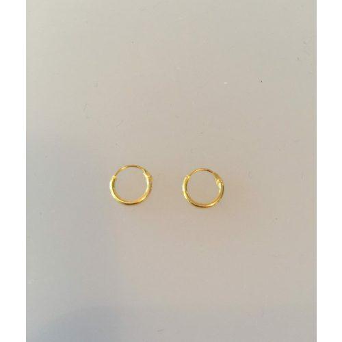 Creoler - Ø 10 mm øreringe forgyldt sølv - glatte Hoops, runde ørenringe, ringe, ægte, guld, forgyldt, guldbelagt, billige, kvalitet, flotte, enkle, små,