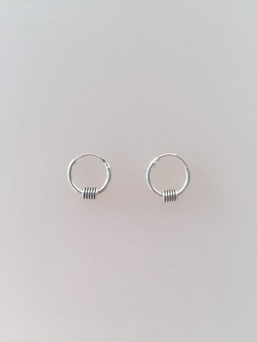 Ø10mm -Creol øreringe i sølv - små med glat spiral
