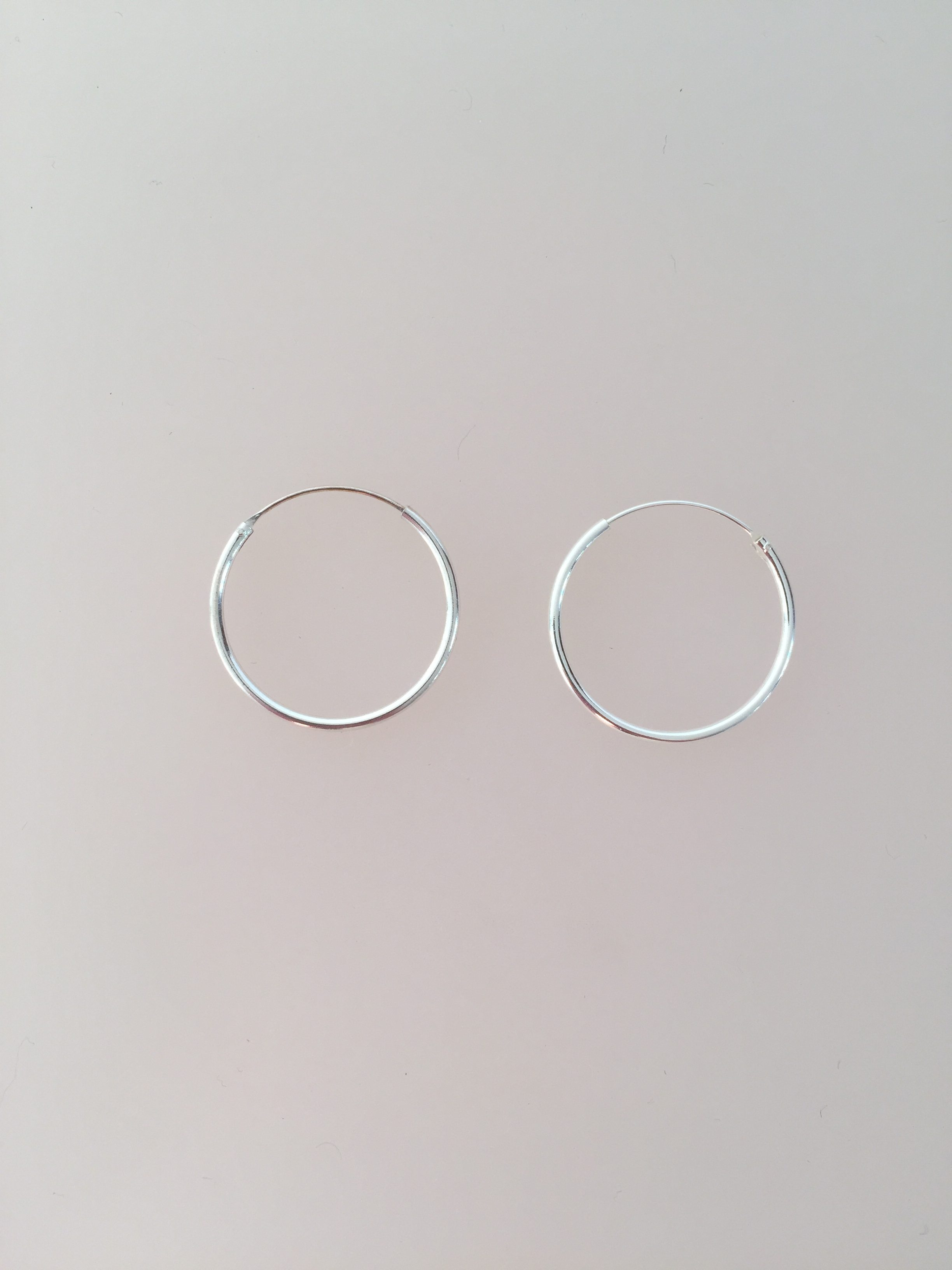 cd3fe466801 Ø 25 mm Creoler sølv - glatte hoops i 2mm tykkelse