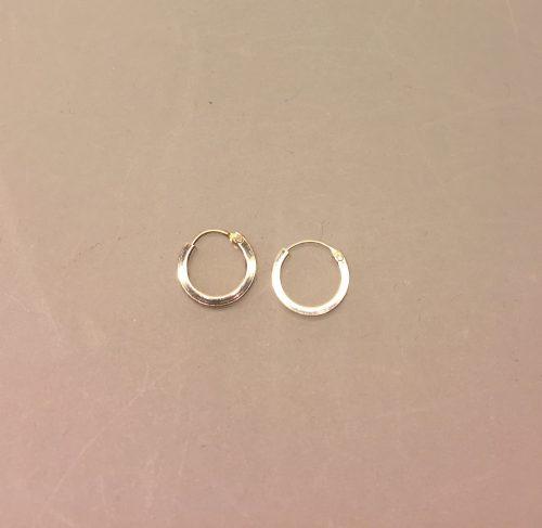 """Creol øreringe i sølv - Creoler """"hoops"""" Ø10 mm kantede"""
