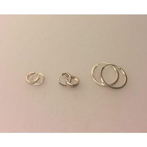 """Creol øreringe i sølv - Creoler """"hoops"""" Ø10 mm kantede tykke - Creol øreringe i sølv - Creoler """"hoops"""" Ø10 mm kantede"""