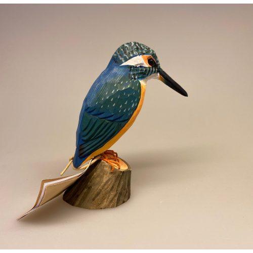 Naturens fugle af træ - Isfugl, king fisher, Wildlife Garden, svenske, træfugle, træfugl, håndlavede