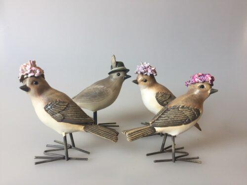 Fugl med blomster - blomsterfugle fugl med hat