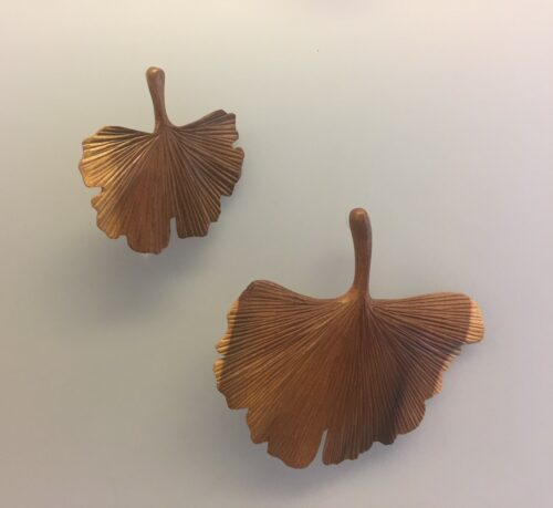 Gingkoblad - Håndskåret af Træ - stort - Gingkoblad - Håndskåret af Træ - lille