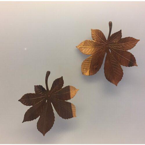 Kastanjeblad - Håndskåret af Træ