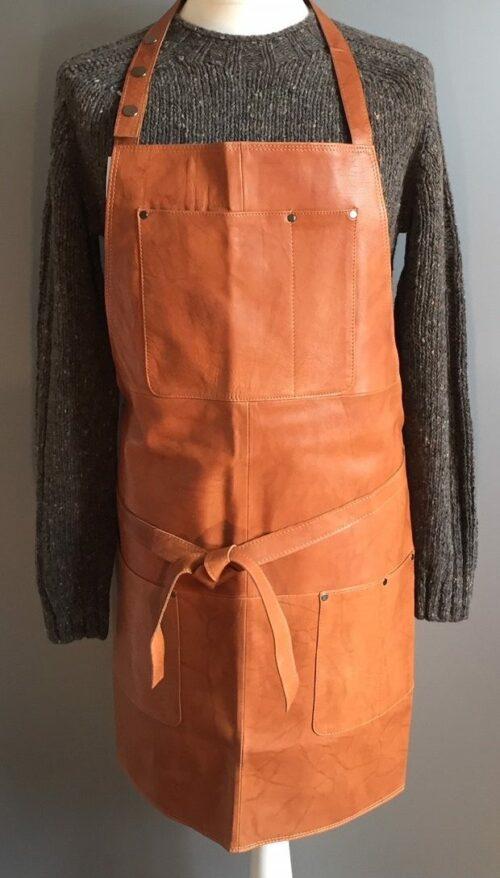Forklæde - Kraftigt læder - Cognac læderforklæde,skindforklæde - Forklæde - Kraftigt læder - Sort