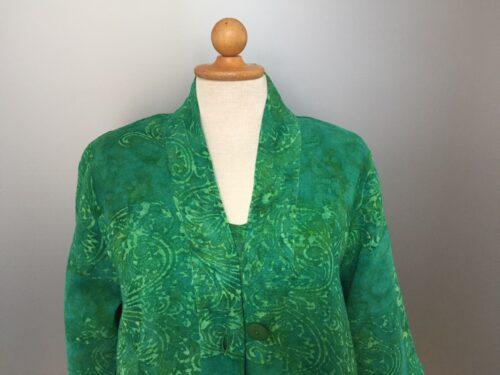 UNO jakke - A-facon i hør/viskose 'Filigran' Grøn