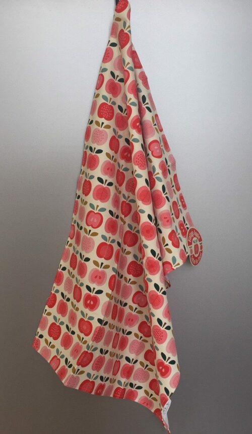 """Viskestykke med Print - Bomuld - #Vintage Apple"""" Æbler"""