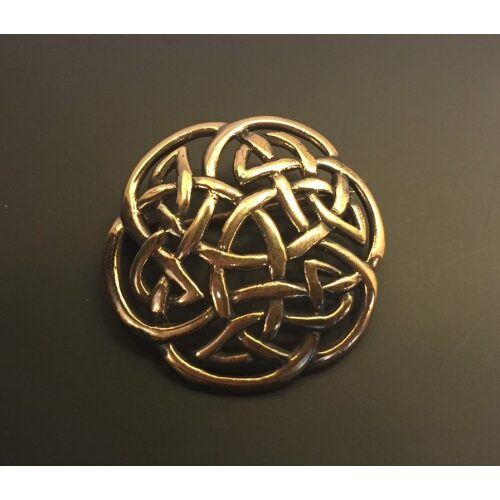 "Vikinge broche i bronze - Keltisk flet ""Evigheden"", fletværk, vikingesmykker, vikinge, danefæ, fund, museums smykker, museumssmykker, kopismykker, ribe, danmarks ældste by, nordisk, mytologi, mythology, biti, thor, mjølner, fenris, freja, odin, frigg, frej, ydun, idun, sleipner"
