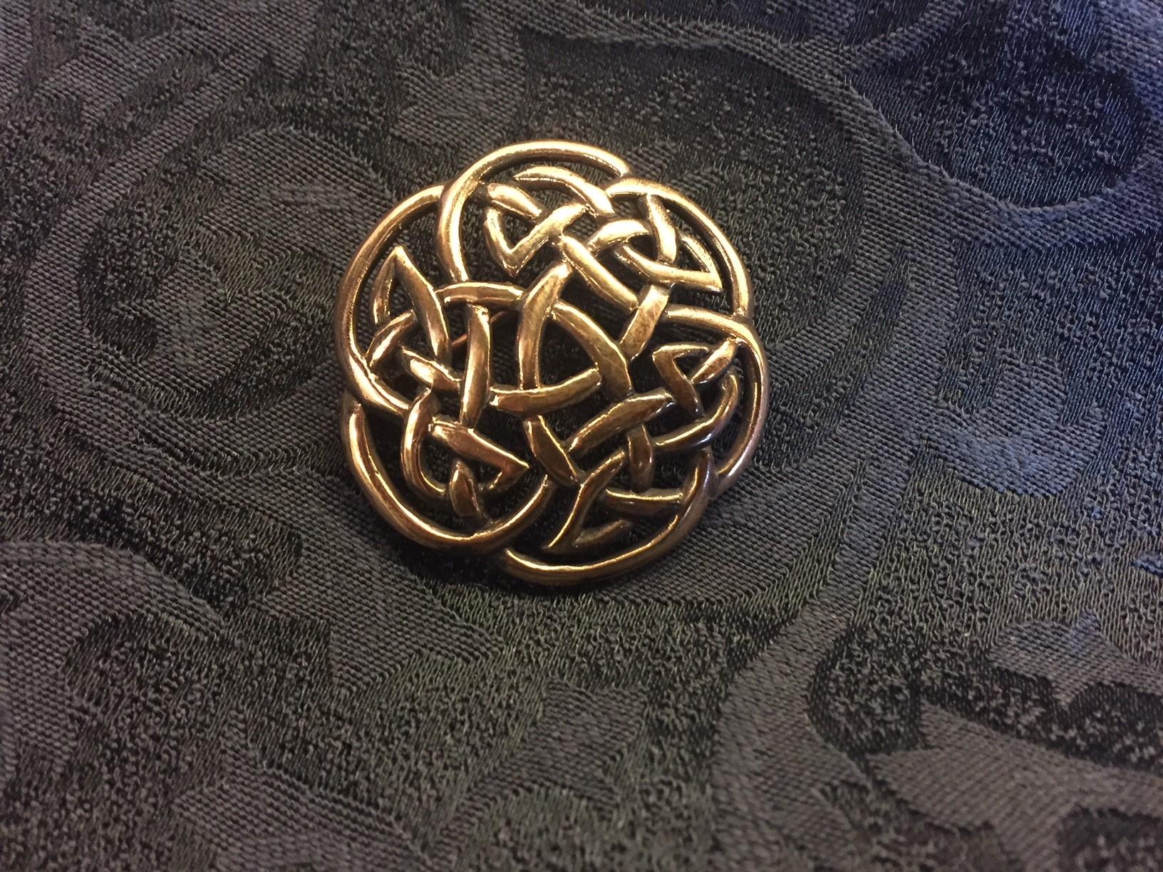 """Vikinge broche i bronze - Keltisk flet """"Evigheden"""""""
