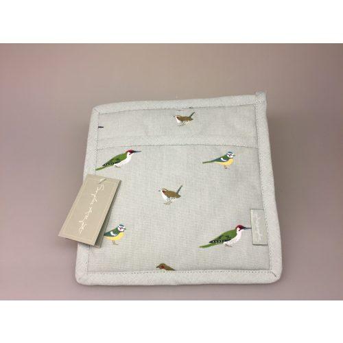 Grydelap - bomuld med tryk - Fugle