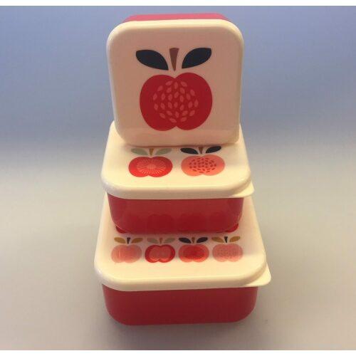 Madkasse sæt/3 bokse - Røde æbler