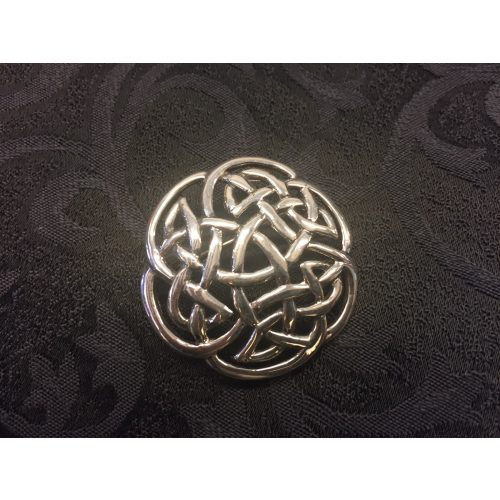 "Vikinge broche i sølv - Keltisk flet ""Evigheden"""