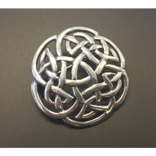 """Vikinge broche i sølv - Keltisk flet """"Evigheden"""", vikinger, vikingesmykker, sølvsmykke, sølvbroche, aser, sølv, ægte, sterling, museums, museumssmykker, kopi, danefæ, aser, nordisk, mytologi, gamle, guder, fund, kopi, originale, kopismykker, vikingekopi, biti, ribe,"""