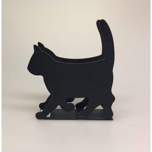 Servietholder metal - Kat sort