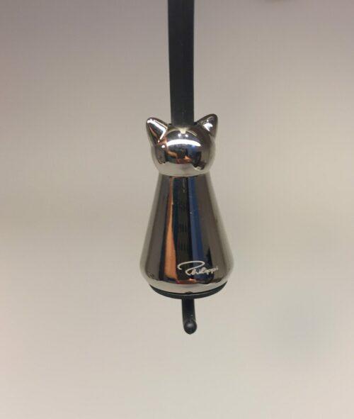 Nøglering - kat blank sølv