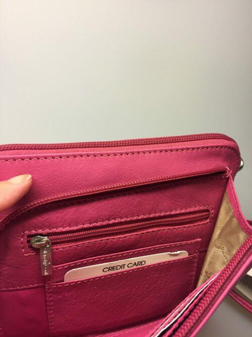 Lille Taske med integreret pung (5510) - Kalveskind Pink