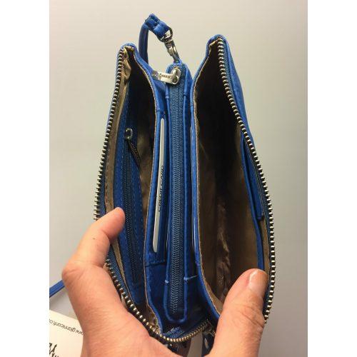 Lille Taske - Clutch med integreret pung (5522) - Kalveskind Coboltblå