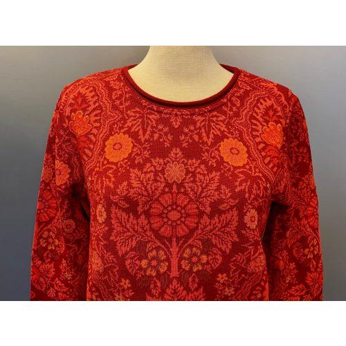 Dunque Fintstrikket Pullover uld bomuld - Rød, Dunque Fintstrikket Pullover i uld/bomuld - Rød, damestrik, strik, striktrøje, pullover, dametrøje, let, tynd, blød, kradser ikke, ulden, uldblanding, bomuld, lun, smart, varm rød, varme farver, rød, rød bluse, strikbluse, sjöden, oleana, jaquard, mønster, røde farver, ton-sur-ton, tone-i-tone, sommerstrik, ikke for varm, åndbar, ren natur, luksus, kvalitet, speciel, flot, eksklusiv, gaveide, gave, biti, ribe, nationalpark, vadehavet, weiss, dagmar,