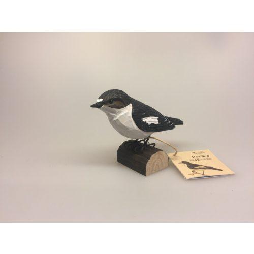 Naturens fugle af træ - Fluesnapper,Naturens fugle - Wildlife garden - håndskåret af træ - Fluesnapper