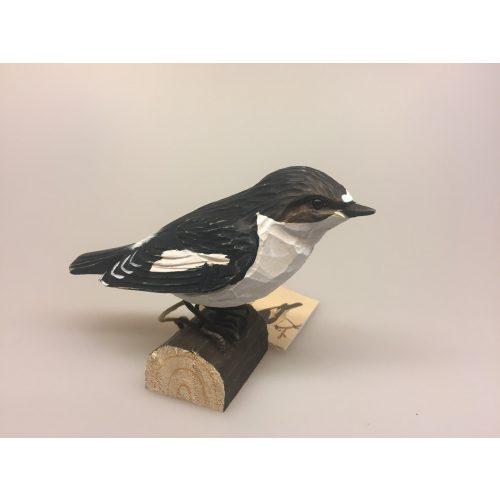 Naturens fugle - Wildlife garden - håndskåret af træ - Fluesnapper