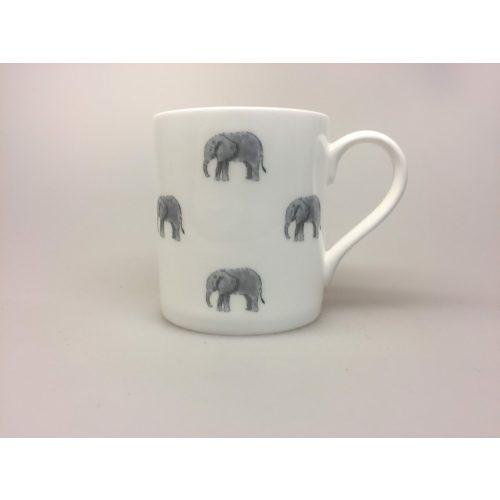 Krus - Ben Porcelæn - Elefanter - elefantkrus -elefantkop - elefant - kop - krus - bæger, vilde dyr, savannen, afrika, safari, ting med elefanter, elefantting