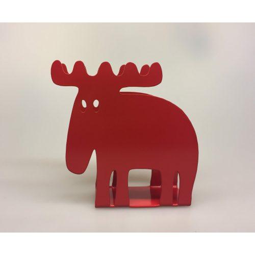 Servietholder metal - Elg rød
