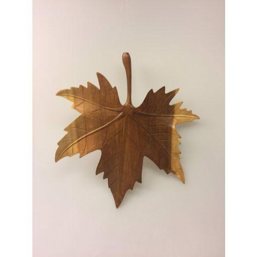 Ahornblad - Håndskåret af Træ - stort
