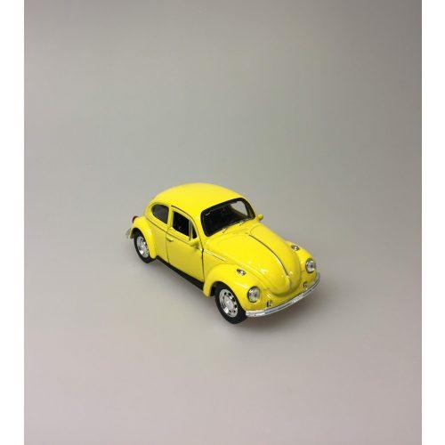 """Bil metal VW - Folkevogn Bobbel - """"classic"""" Gul"""