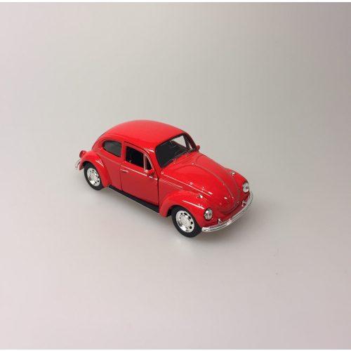 """Bil metal VW - Folkevogn Bobbel - """"classic"""" Rød"""