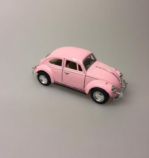 """Bil metal VW - Folkevogn Bobbel - """"classic"""" Rosa"""