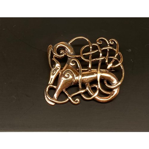 "Vikingebroche i bronze - Ribe brochen - Kamp mellem, Vikingebroche i bronze - Ribe brochen - Kamp mellem - Vikingebroche i bronze - Ribe brochen ""Kamp"""