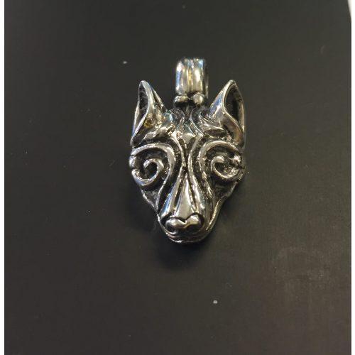 Vikingevedhæng i sølv - Fenris Ulvehoved, Vikingevedhæng i sølv - Ulvehoved - Fenris