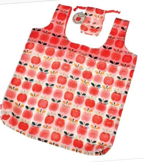 Indkøbsnet - sammenfoldeligt - Røde æbler