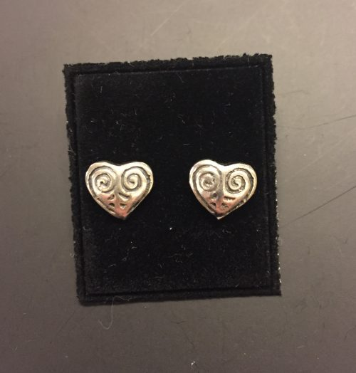 Vikingeørestikkere i sølv - Hjerte amuletter