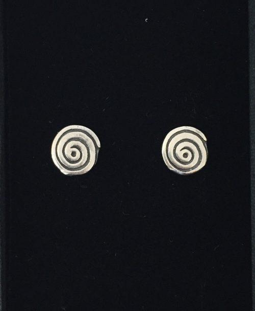 Vikingeøreringe i sølv - ørestikkere Spiral