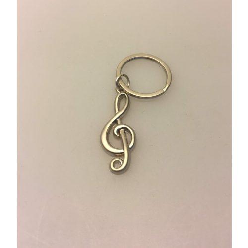 Nøglering G-nøgle node - Mat sølv metal