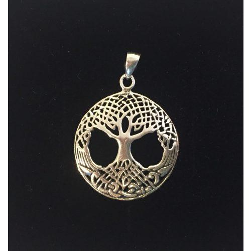 Vikingevedhæng i sølv - Livets træ Yggdrasil med keltisk flet - Vikingevedhæng i sølv - Livets træ Yggdrasil med keltisk flet - lille
