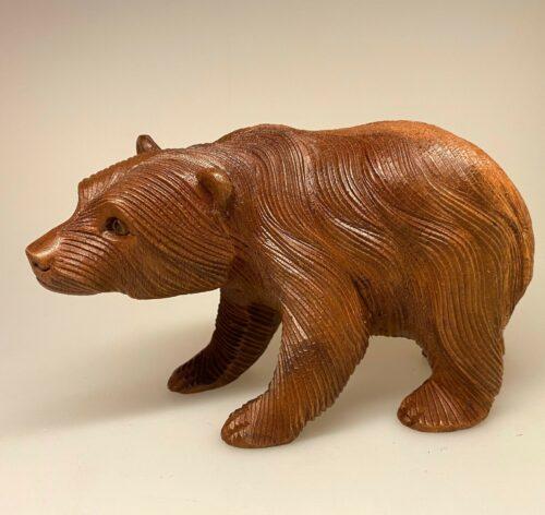 Bjørn - håndskåret træ - stor, brun bjørn, ursus, bamsefar, bjørnen bjørn, guldlok og de tre bjørne, ursus arctos, ursidae