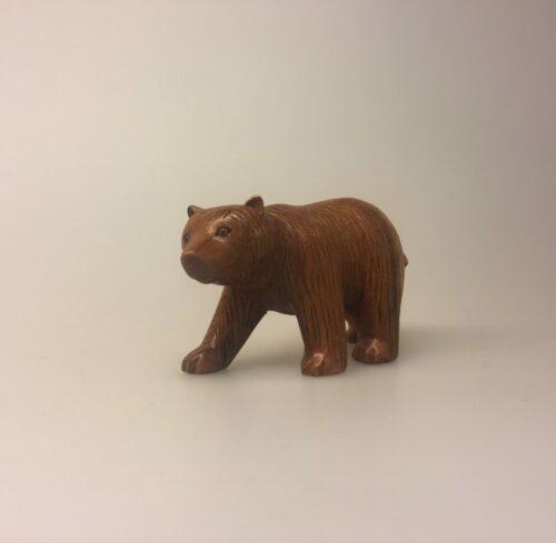 Bjørn - håndskåret træ - lille