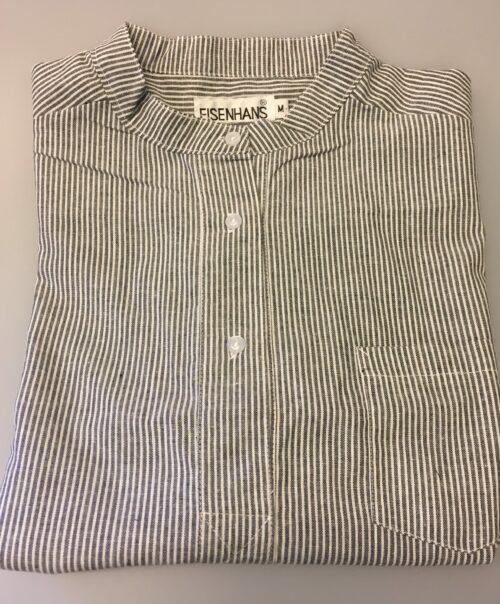 Bondeskjorte i bomuld - Lysegrå mælkedreng (stof 13), voksen