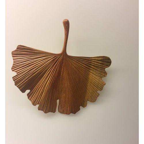 Gingkoblad - Håndskåret af Træ - stort
