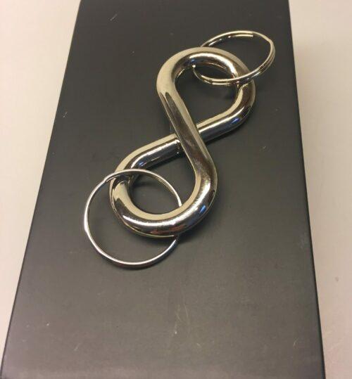 Nøglering med Infinity - evighedstegn i sølv