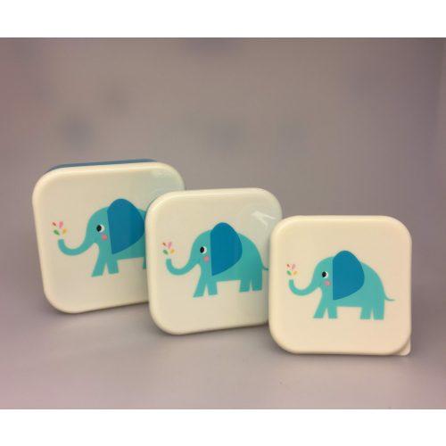 Madkasse sæt/3 bokse - Lille elefant