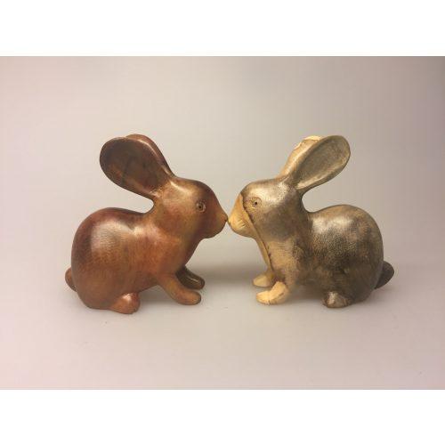 Kanin - Håndskåret af træ - Brun