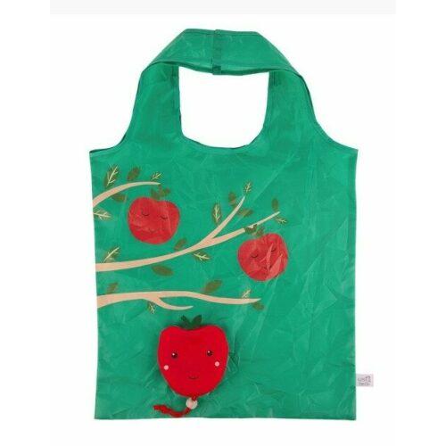 Indkøbsnet - sammenfoldeligt - Rødt æble