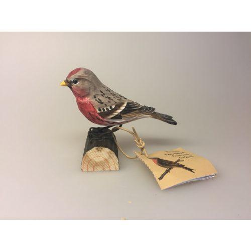 Naturens fugle af træ - Gråsisken,Naturens fugle - Wildlife garden - håndskåret af træ - Gråsisken, fugl, træfugl, fugl af træ, håndsnittet, fugle i farver, danmarks fauna