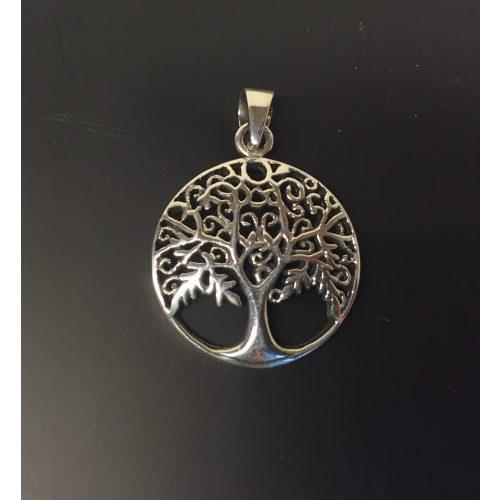 Vikinge Vedhæng sølv - Livets træ Yggdrasil filigran løv, vikingesmykker, vikingsmykker, livstræet, ask, ygdrasil, yggdrassil, asatro, sølvvedhæng, sølvsmykke, kædevedhæng, freja, nordisk mytologi, asgård, udgård, midgård, museumssmykker, museums smykker, kopi smykker, fund, kopier af fund, ribe, biti,