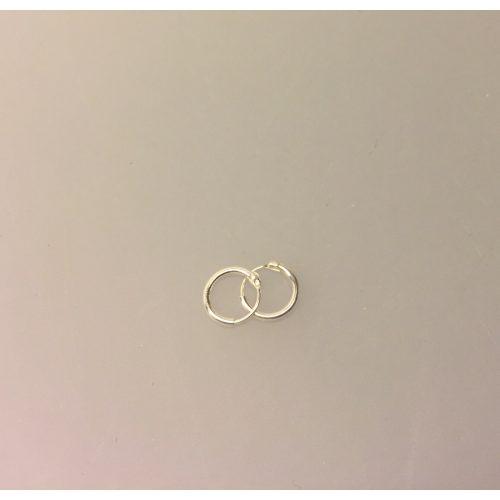 Creoler i sølv Ø 8 mm glatte hoops 1,2 mm, tynde Creoler sølv - glatte hoop, runde, øreringe, ørenringe, hoops, runde ringe, glatte, ægte sølv, sterling sølv, billige, god kvalitet, flotte, stilige, stilrene, biti, ribe