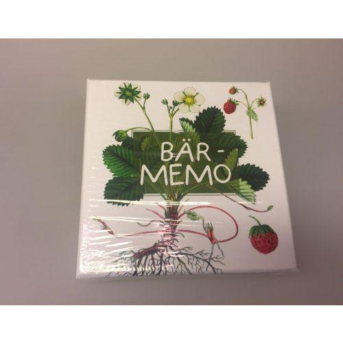 Bær Memo - Huskespil, vendespil, memory, spil, børnespil, naturens bær, natur, bær, plukke bær, blåbær, jordbær, tranebær, hyldebær, gaveidé, værtindegave, svensk, fint, dekoraivt, biti, ribe